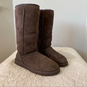 UGG 10 Chocolate Brown Classic Tall Boots 5815